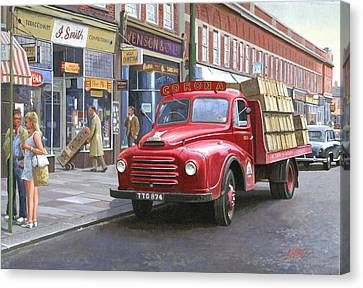 Corona Drinks Lorry. Canvas Print by Mike  Jeffries