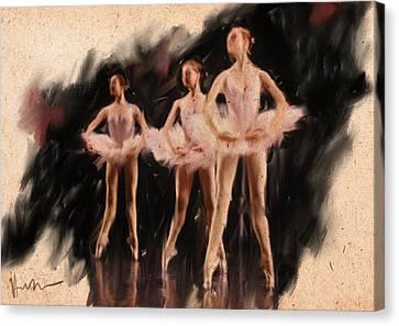 Corps De Ballet Canvas Print by H James Hoff