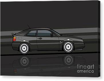 Corrado Black Stripes Canvas Print by Monkey Crisis On Mars