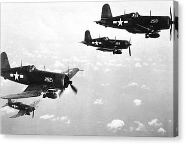 Corsair Planes  Us Airforce Canvas Print by American School