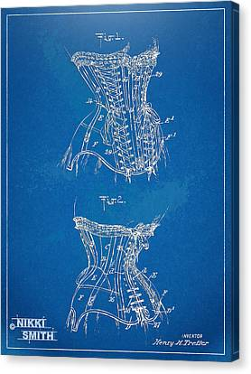 Corset Patent Series 1908 Canvas Print by Nikki Marie Smith