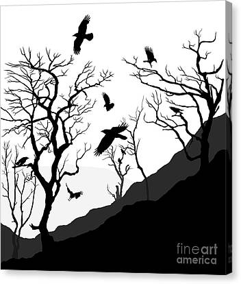 Crows Roost Canvas Print by Philip Openshaw