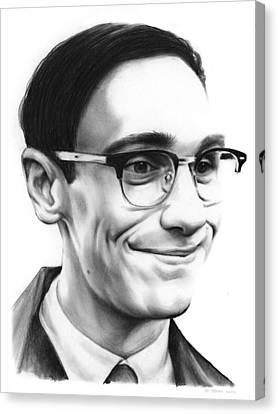 Cory Michael Smith Canvas Print by Greg Joens