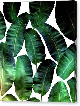 Cosmic Banana Leaves Canvas Print by Uma Gokhale