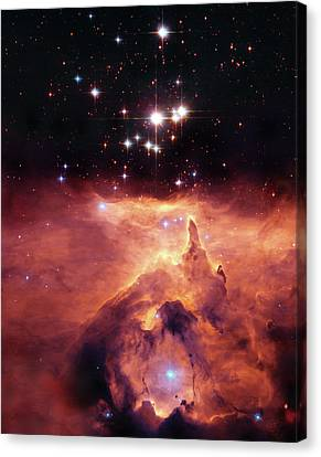 Cosmic Cave Canvas Print by The  Vault - Jennifer Rondinelli Reilly