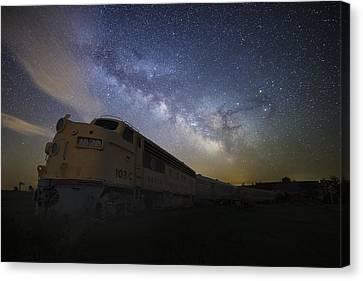 Cosmic Express Canvas Print by Aaron J Groen