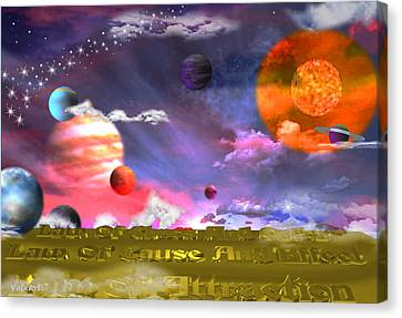 Cosmic Laws Canvas Print by By ValxArt