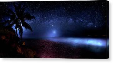 Cosmic Ocean Canvas Print by Mark Andrew Thomas