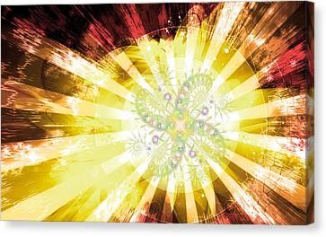 Cosmic Solar Flower Fern Flare 2 Canvas Print by Shawn Dall