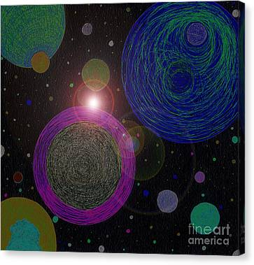 Cosmic Universe Canvas Print by Norma Appleton