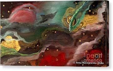 Cosmic Vision Canvas Print by Anna Folkartanna Maciejewska-Dyba