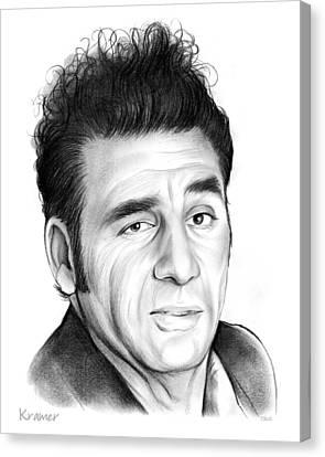 Cosmo Kramer Canvas Print by Greg Joens