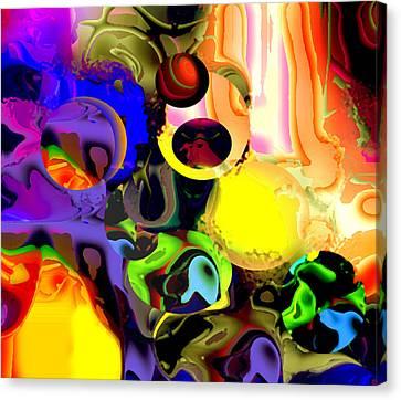 Cosmos Dance 05 Canvas Print by Oksana Linde