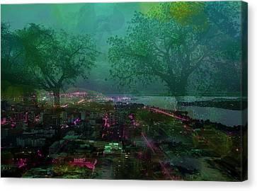 Cote D'ivoire Night Canvas Print by Paul Sutcliffe