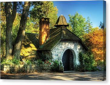 Cottage - The Little Cottage Canvas Print by Mike Savad