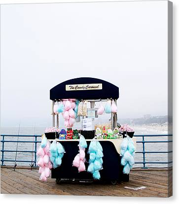 Cotton Candy Carousel- By Linda Woods Canvas Print by Linda Woods