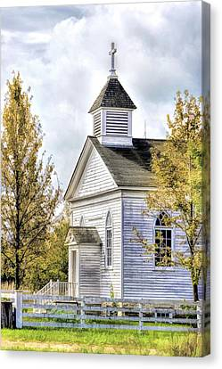 Country Church At Old World Wisconsin Canvas Print by Christopher Arndt