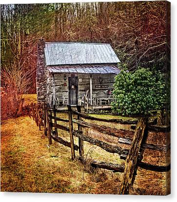 Country Cottage Farm Canvas Print by Debra and Dave Vanderlaan