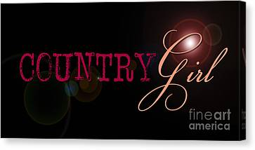 Country Girl Canvas Print by Liesl Marelli