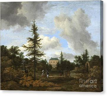 Country House In A Park Canvas Print by Celestial Images