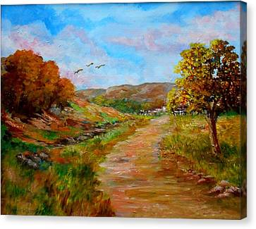 Country Road 2 Canvas Print by Constantinos Charalampopoulos