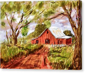 Country Roads Canvas Print by Barry Jones