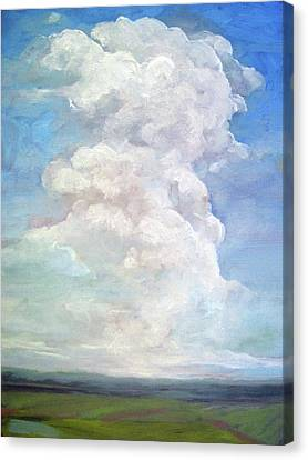 Country Sky - Painting Canvas Print by Linda Apple