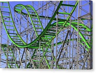 County Fair Thrill Ride Canvas Print by Joe Kozlowski
