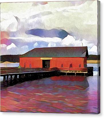 Coupeville Wharf Painterly Effect Canvas Print by Carol Leigh