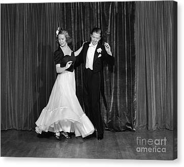 Couple Ballroom Dancing On Stage Canvas Print by H. Armstrong Roberts/ClassicStock