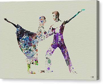Couple Dancing Ballet Canvas Print by Naxart Studio