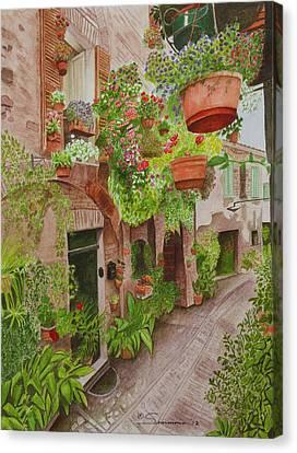 Courtyard Canvas Print by C Wilton Simmons Jr