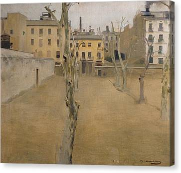 Courtyard Of The Old Barcelona Prison Canvas Print by Ramon Casas