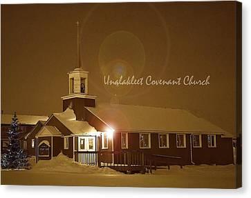 Covenant Church Canvas Print by Arlene Rhoda Nanouk