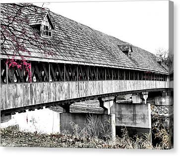 Covered Bridge 2 Canvas Print by Scott Hovind