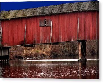Covered Bridge Canvas Print by Michael L Kimble