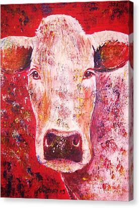 Cow Canvas Print by Anastasis  Anastasi
