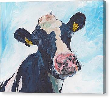 Cow No 01. 0254 Irish Friesian Cow  Canvas Print by Dermot OGrady