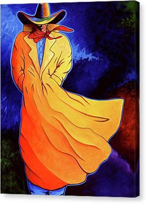 Cowboy Blue Canvas Print by Lance Headlee
