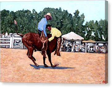 Cowboy Conundrum Canvas Print by Tom Roderick