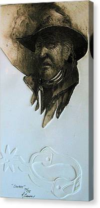 Cowboy Canvas Print by Robert Carver
