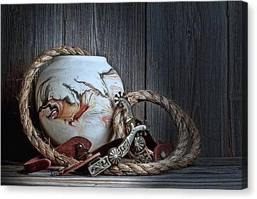 Cowboys And Indians Canvas Print by Tom Mc Nemar