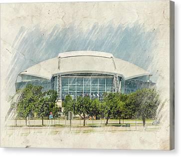 Cowboys Stadium Canvas Print by Ricky Barnard