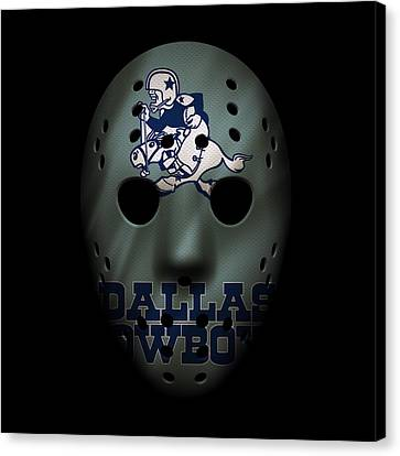 Cowboys War Mask Canvas Print by Joe Hamilton