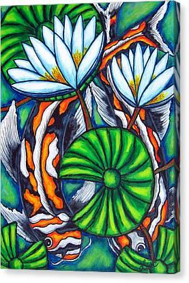 Coy Carp Canvas Print by Lisa  Lorenz