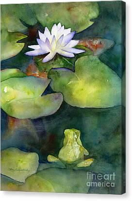 Coy Koi Canvas Print by Amy Kirkpatrick