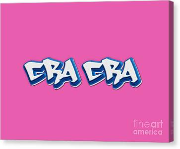Cra Cra Tee Canvas Print by Edward Fielding
