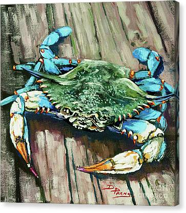 Crabby Blue Canvas Print by Dianne Parks