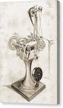 Crabtree S Card Setting Machine. Copied Canvas Print by Vintage Design Pics