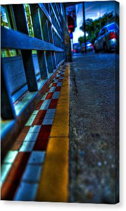 Cracks In The Pavement Canvas Print by Sarita Rampersad